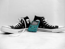 Converse and Game Boy by Pollito-is-Artzy