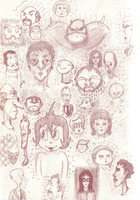 Faces sketchdump by ozwalled