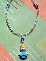 Necklace with Cinderella, shoe and pearls fimo by bimbalove81