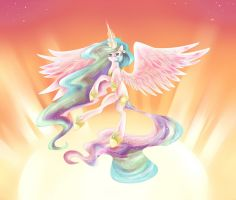 Celestia Raises the Sun by dreampaw