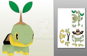 Turtwig papercraft by javierini
