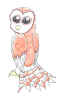 Drawing of Barn Owl by YagamiDragon
