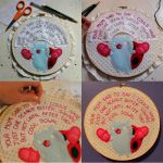 Embroidering words by loveandasandwich
