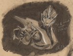Arcee Charcoal Sketch by Obsequiosity