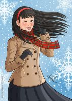 A Drawing A Day 3: Yukiko Amagi by Lukael-Art