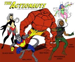 The Actionauts -concept by LegacyHeroComics