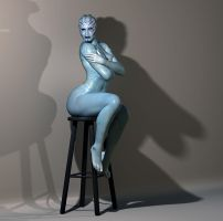 Asari pinup session 3 by mordin86