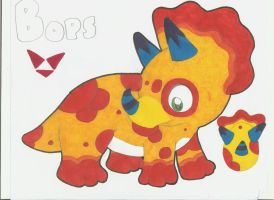 Bops the Icera Sauron (TRICERATOPS) by Alice-of-Africa