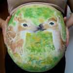 Fawns (body painting) by Sillageuse