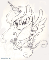 Luna Sketch by SpaceKitty