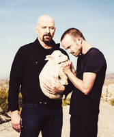 Bryan Cranston and Aaron Paul by Linds37