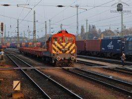 449 021 with a short freight train in Budapest by morpheus880223