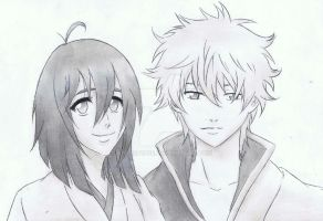X1 and Gintoki by Anime019se
