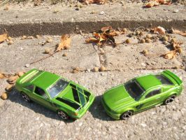Hot Wheels Then and Now Mustangs from 2013 by KiritoDrift2025
