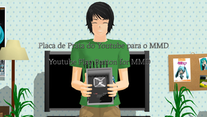 Botao de Prata do Youtube-Youtube Play Button MMD by vocaloidfantasy