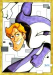 Elongated Man 5x7 Sketch Card by rustythewonderdog