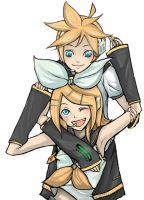 Rin and Len friends by marcusfenix221