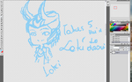 Takes 5 Min To Draw Loki by Mikirana