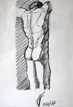 #220217 - Male anatomy sketch by Aster1os