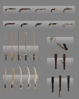 Wind Riders Weapon Concepts by pinkhavok