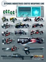 EXOTIC WEAPONS by willman1701