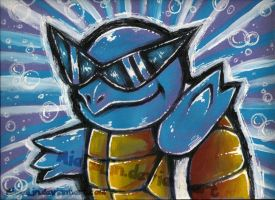 Squirtle Painting by MiakaLin