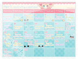April activity calendar - Update by RinaShuu