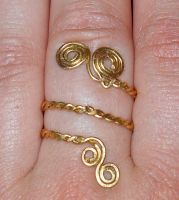 Double Wrap Ring by osterreich-gold