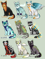 Elemental cat Auction! 5 POINTS START (CLOSED) by Arklen
