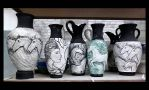 Bisqued Amphora Vases works in progress by griffinlady