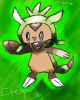 Chespin by Cherrierae