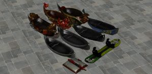 'Sin Sangoku Musou 7' Weapons pack 1 XPS ONLY!!! by lezisell