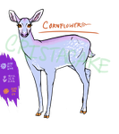 Deer Adopt- Cornflower (closed) by Cristacake