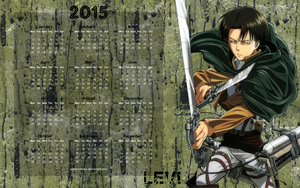 Yearly Calendar Wallpaper 2015 - AoT levi by edinaholmes