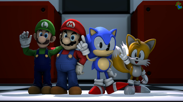 Nintendo and Sega (Light testing) ~SFM by Laukku2000