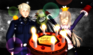 [MMDxAPH] - Happy Birthday, Prussia! by Hebigami-Okami-77