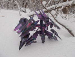Paper model - Tachyon Dragon (snow forest1) by Sermann