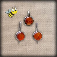 Honey drops silver jewelry set with awesome agates by YANKA-arts-n-crafts