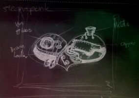 Steampunk heart sketch by pacogarabo