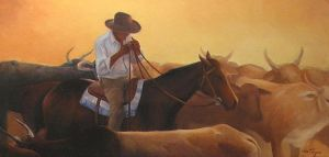 Cowboy's Sunset by VidaTayari