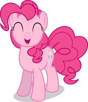 Mlp Fim Pinkie Pie (happy) vector by luckreza8