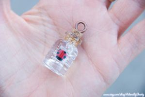Lucky Ladybug Necklace Charm by IvrinielsArtNCosplay