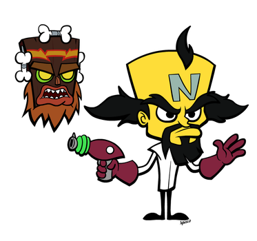 Dr Neo Cortex and Uka Uka by Anioco