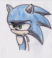 Angry Sonic by SecretRings