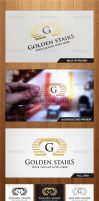 Golden Stairs Logo Template - Graphicriver by Changyik