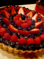 Mixed Fruit Tart by Sliceofcake