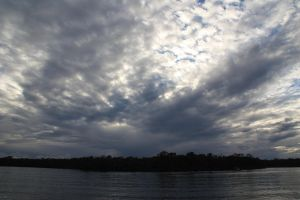 the river cloudy sky by Carolinel3