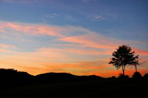 Autumn Sunset in West Virginia by TimLaSure
