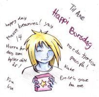 Happy B-day card to Ane by InaVangen