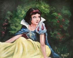 a snow white my painting by cliford417
